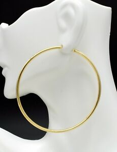 14k-Solid-Yellow-Gold-big-Large-Endless-hoop-Earrings-60mm-x-2MM
