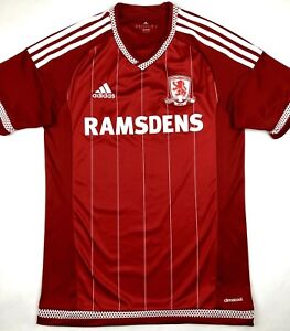 low cost be66a d49f7 Image is loading Adidas-MIDDLESBROUGH-2015-16-S-Home-Soccer-Jersey-