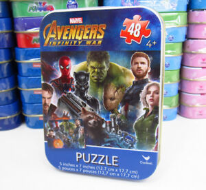 Marvel-Avengers-Infinity-War-Mini-Puzzle-48-Pieces-5-034-x-7-034-w-Collectible-Tin