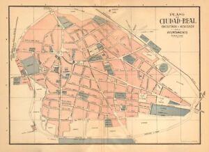 Ciudad real plano antiguo de la cuidad antiguo pueblo - Plano de ciudad real ...