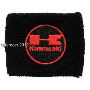 KAWASAKI RESERVOIR SOCKS BRAKE//CLUTCH FLUID TANK OIL CUP COVER GREEN/&BLACK SET