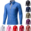Mens-Formal-Casual-Shirts-Business-Dress-T-shirt-Long-Sleeve-Slim-Fit-Tops-Tee