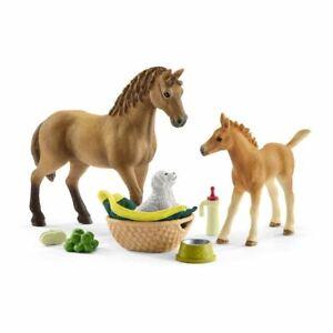 Schleich-42432-Pferd-Verein-SARAH-039-S-Baby-Tier-Pflege-Spielzeug-42432