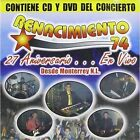 27 Aniversario en Vivo [CD/DVD] by Renacimiento '74 (CD, May-2012, Frontera Music)