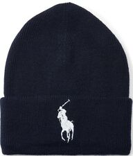 item 1 ORIGINAL POLO RALPH LAUREN BIG PONY CUFFED BEANIE HAT. NAVY BLUE e48311768d8