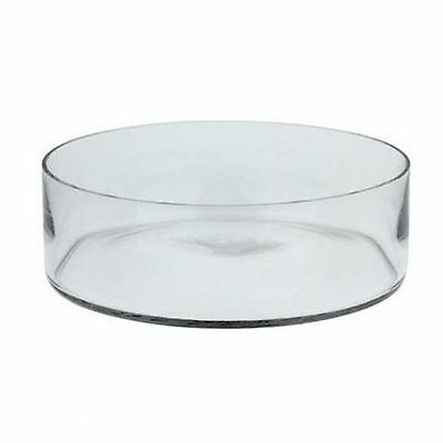 2 x Round Glass Bowl Floral Display Wedding Table Centrepiece Display Decor EF