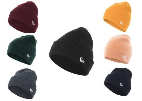 New Era Cuff Essential Beanie Black Winter Knit Hat Christmass Gift Cap Warm