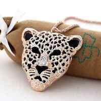Tiger Panther Leopard Pendant Bracelet Long Sweater Necklace Jaguar Retro Wild
