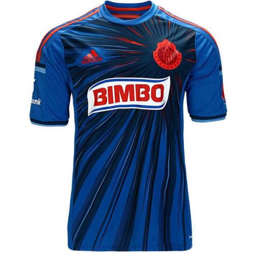 timeless design 18367 3ff7f adidas Chivas Guadalajara Mexico 14/15 3rd Jersey Short Sleeve Blue Men's  Size L