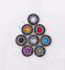 10X-Silver-Tone-Flower-Leather-Craft-Bag-Belt-Purse-Decor-Turquoise-Conchos-Set miniature 2
