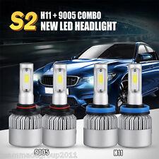 4x H11 9005 LED Total 320W 32000LM Combo Headlight CREE Kit Hi-Lo Beam Fog Light