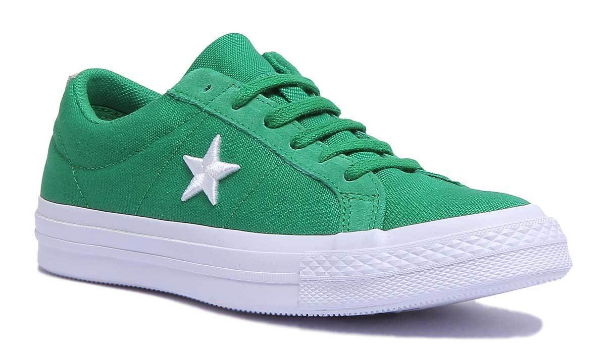 Converse One Star Canvas Country Pride Women Canvas Green Trainers UK Size 3 - 8