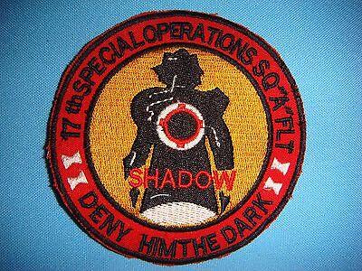 "VIETNAM WAR PATCH US ""A ""FLIGHT 17th SPECIAL OPERATIONS SQ "" SHADOW """
