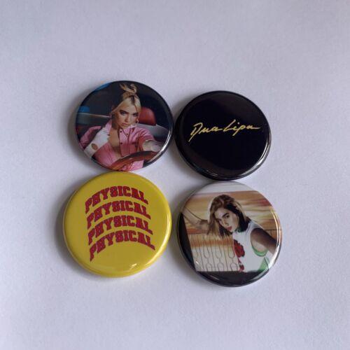 "Dua Lipa 1.25/"" Pins Set Of 4  Buttons Badges Future Nostalgia"