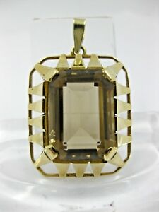 Stetig Heller Rauchquarz Gold 585 Rund Anhänger Fischland Jugendstil Braun Rund Antiquitäten & Kunst Schmuck & Accessoires