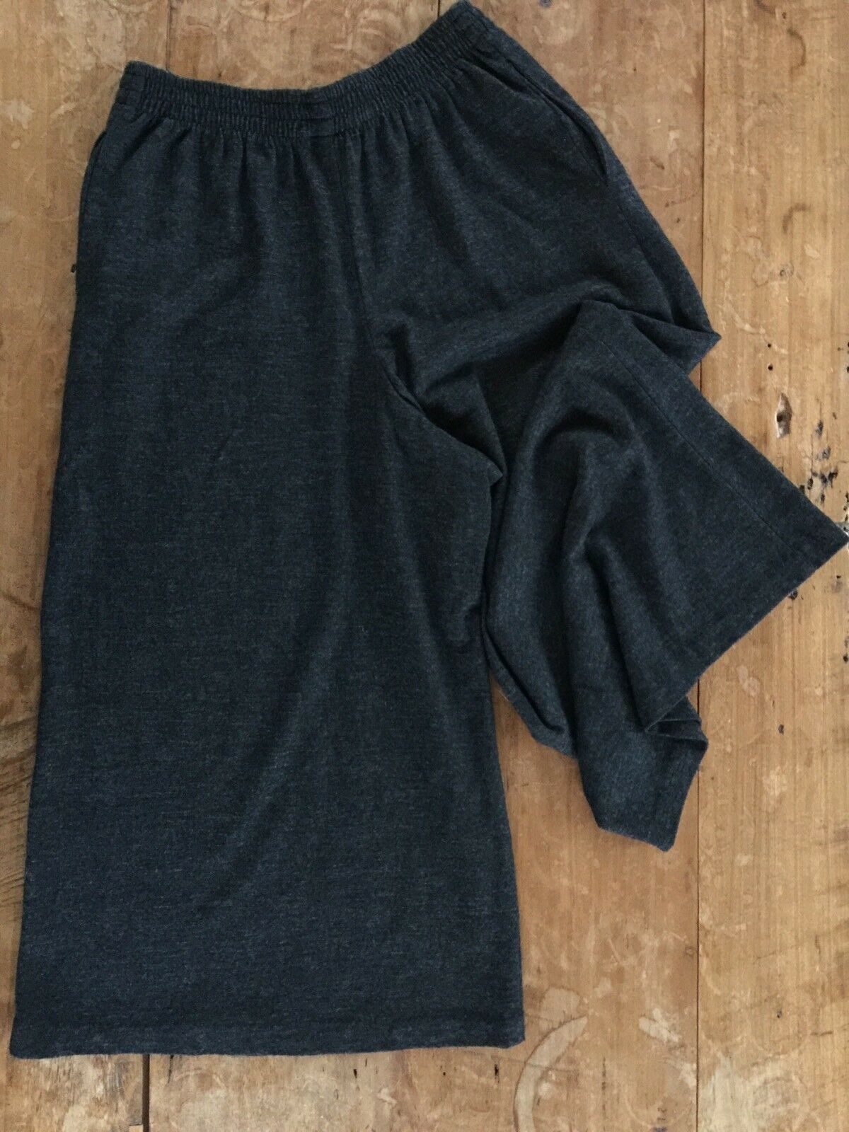 Clifford & Wills wool jersey high rise wide cropped palazzo pants M L 8 10 12 EX