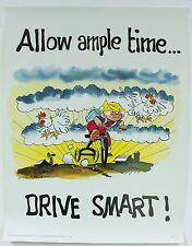 Drive Smart Vintage 1985 Dennis the Menace Hank Ketcham Work Morale Poster 316