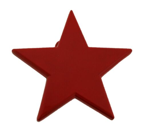 Details about  /Love Red Color Star Belt Buckle Metal Plain Finished Punk Rock Men Women New