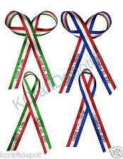 "Personalized Stripe Ribbon 1/4"" 3/8"" Wedding Birthday Baptism Baby Shower Favor"