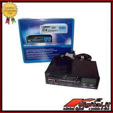 PANNELLO MULTIFUNZIONE PC COMPUTER DISPLAY CARD READER USB SATA IEEE1394 VENTOLE