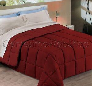 Trapunta puro raso di cotone 3 misure matrimoniale singola bordeaux rosso 87qbx ebay - Copriletto matrimoniale rosso ...
