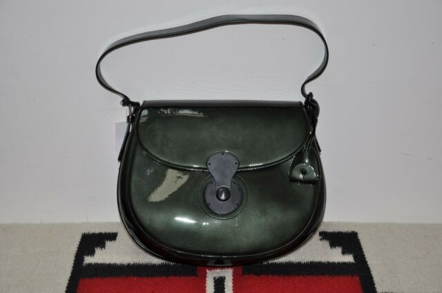 755872daa6 Ralph Lauren Collection Purple Label Leather Lined Cooper Leather Shoulder  Bag
