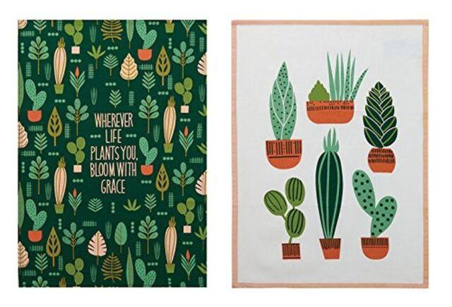Elizabeth Olwen Plant Life Garden DESIGNER Kitchen Dish Tea Towels ...