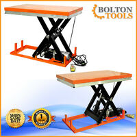 Electric Powered Hydraulic Scissor Lift Table 2200 Lb Lift Capacity Et1001