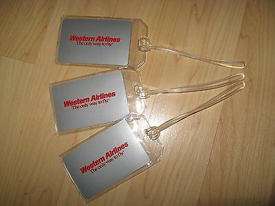 Western Airlines Luggage Tags - Vintage WAL Logo Playing Cards Name Tag Set (3)