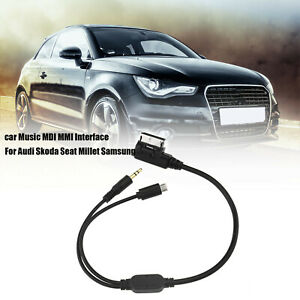 AMI MDI MMI 3.5 mm AUX Interface Adapter Car Audio Micro USB Cable For Audi VW