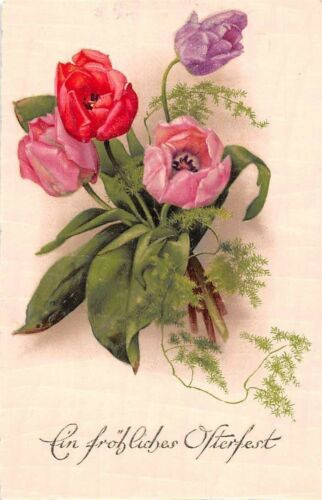 Ein froehliches Osterfest! Happy Easter! Poppy Flowers 1931