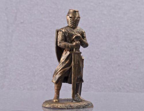 Mittelalterlicher Ritter Wohnkultur Kupferskulptur Modell 54mm kn-3