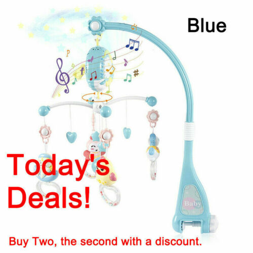 Baby Musical Crib Bed Cot Mobile Dream Flash Nusery Lullaby Remote Control Toys