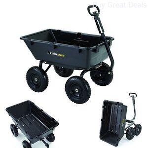 Image Is Loading Gorilla Carts GOR6PS GARDEN CART Heavy Duty Garden