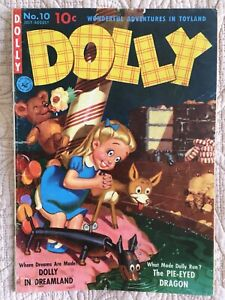 Scarce Golden DOLLY WONDERFUL ADVENTURES IN TOYLAND #10 '51 Creepy Doll cover