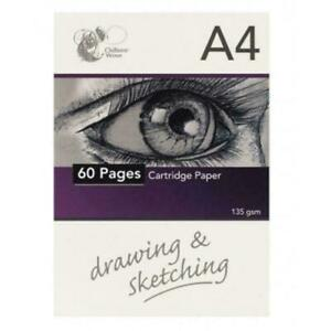 A4-Sketch-Pad-Headbound-Cartridge-White-Drawing-Paper-60-Pages-Book-135gsm