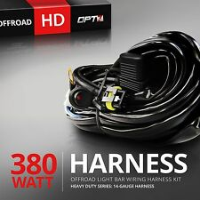 OPT7 8ft On-Off Power Switch for Off road LED Light Bar Relay Wiring Harness
