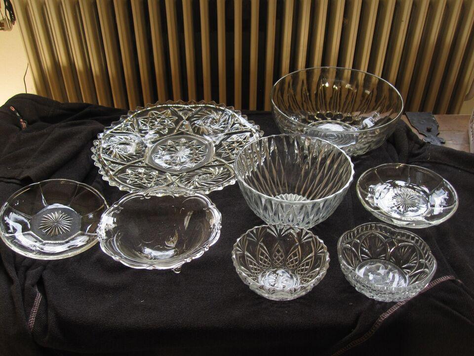 Glas, Kagefad, skåle og små sidetallerkner