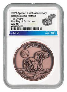 1969-2019-Apollo-11-50th-Robbins-Medal-1-oz-Copper-Medal-NGC-MS70-FDP-SKU55118