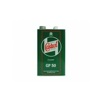2 x Castrol Classic GP50 Monograde Classic Engine Oil SAE50 1 Gallon/4.54 Litres