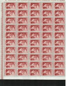 S24335) Italy 1955 MNH New Matteotti 1v Sheets Whole Not Folded