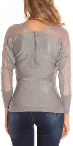 Koucla Pullover Pulli Strickpullover Sweater mit Reißverschluss
