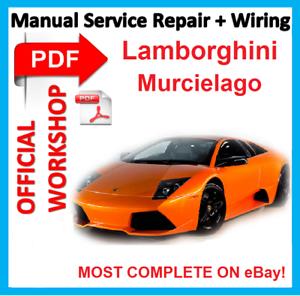 official workshop manual service repair for lamborghini murcielago rh ebay co uk lamborghini workshop manual.pdf lamborghini gallardo repair manual