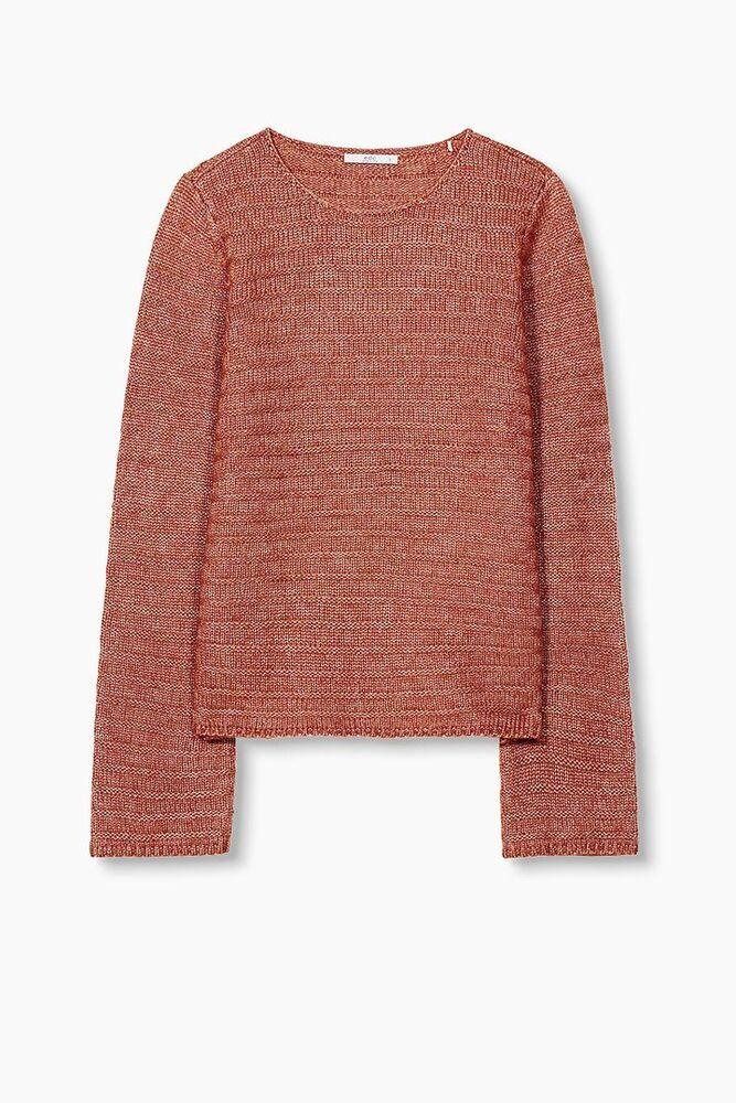 Edc By Esprit Pull Femmes Fashion Jumper Blush Orange Neuf