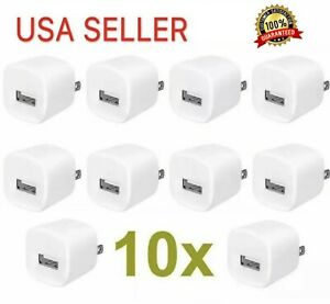 10x-1A-USB-Power-Adapter-AC-Home-Wall-Charger-US-Plug-FOR-iPhone-LG-Samsung