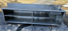 114 X 24 Stainless Steel Work Table Cabinet With Shelves Amp Right Sink Custom