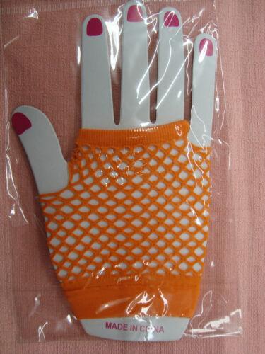 12 Pair of fishnet Women/'s//Girl/'s one size Fingerless Gloves New
