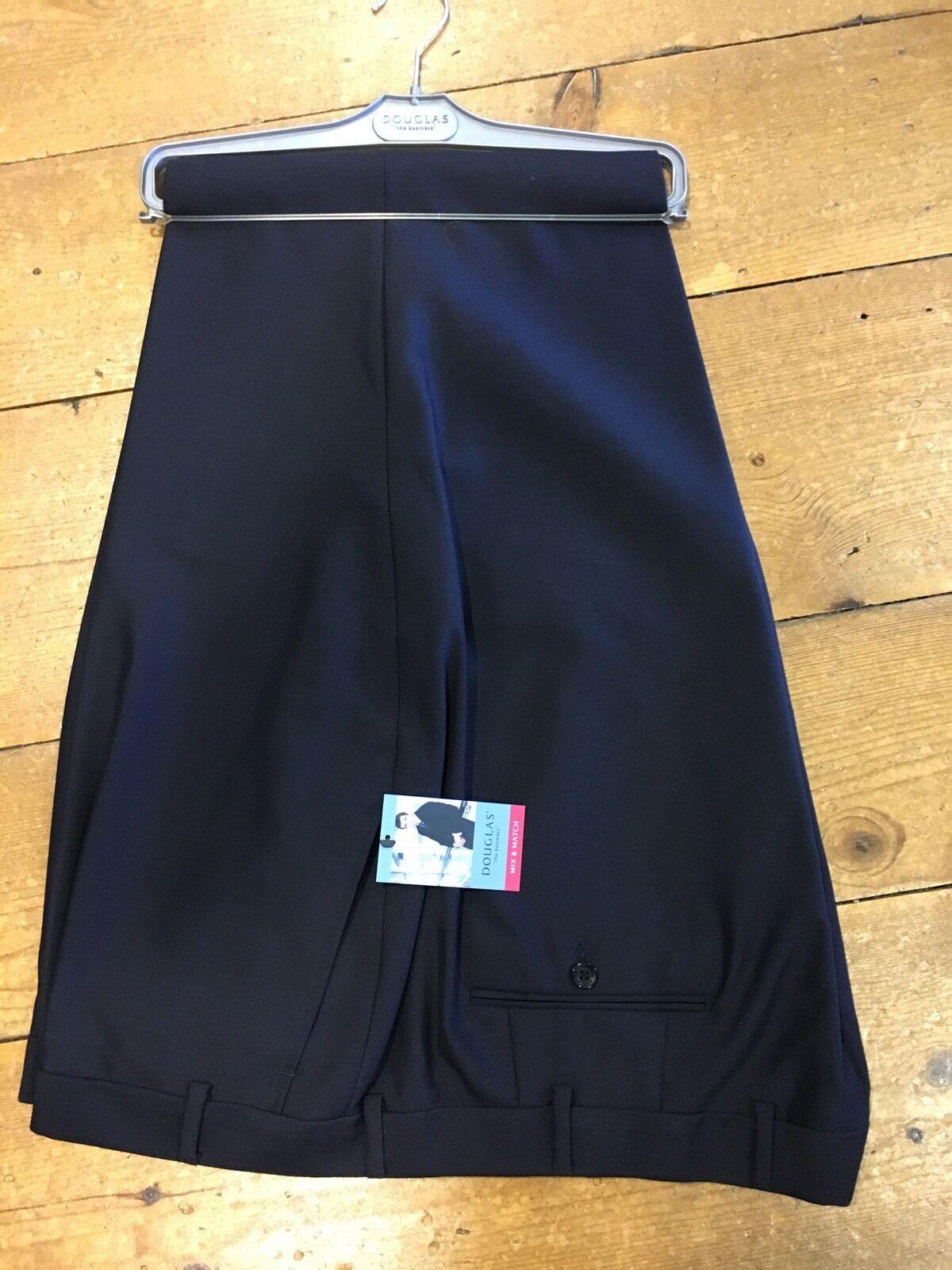 Douglas Suit Trousers Navy - 56 32. WAS