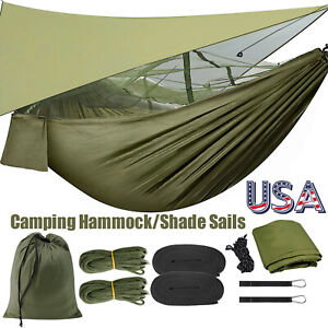 Outdoor Camping Hammock Tent with Mosquito Net/Waterproof Sun Shade Sails Canopy
