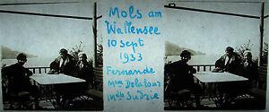 Platte Stereoskopische Fotografie Mols Am Walensee Sept 1933 Switzerland Schweiz